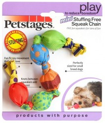 Игрушка для собак Petstages Mini Stuffing Free Squeak Chain Мини цепь с пищалками